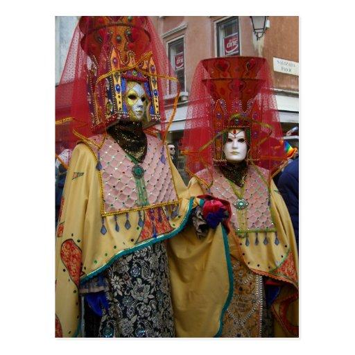 Venice Carnivale Postcard