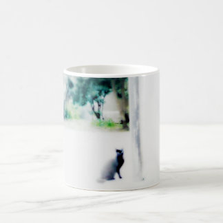 venice cat white coffee mug