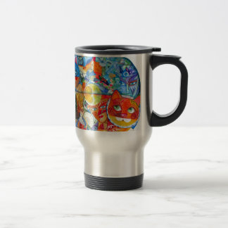 Venice cats carnaval travel mug
