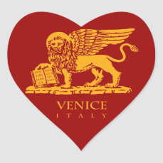 Venice Coat of Arms Heart Sticker
