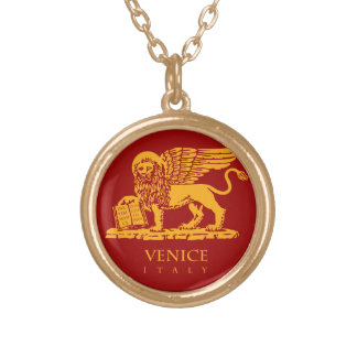 Venice Coat of Arms Round Pendant Necklace