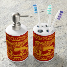 Venice Coat of Arms Soap Dispenser And Toothbrush Holder