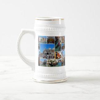 Venice collage beer stein