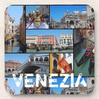 Venice collage coaster