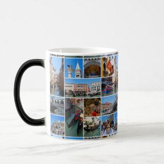 Venice collage magic mug