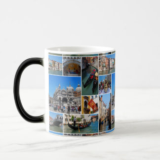 Venice collage magic mug