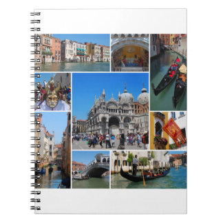 Venice collage notebook