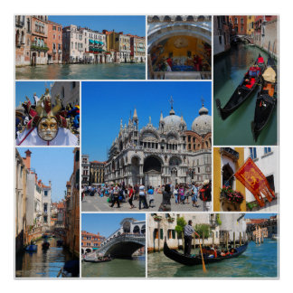 Venice collage poster