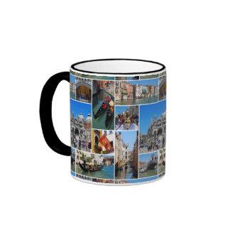 Venice collage ringer mug
