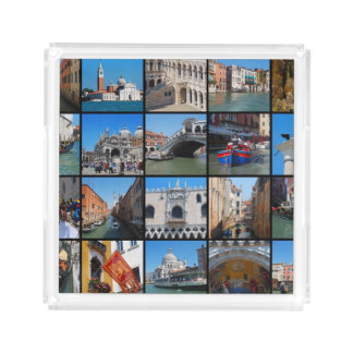 Venice collage square serving trays
