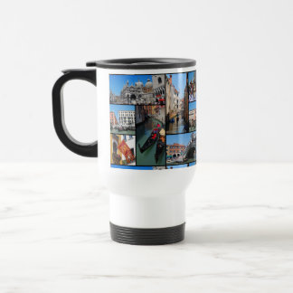 Venice collage travel mug
