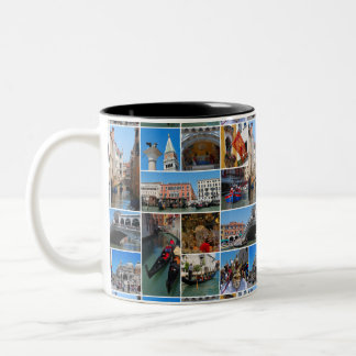 Venice collage Two-Tone coffee mug
