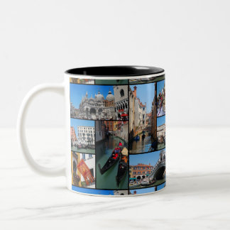 Venice collage Two-Tone coffee mug
