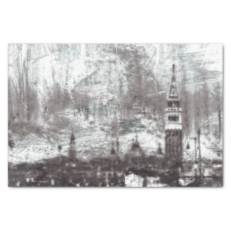 VENICE DISTRESSED NO. 1 Whitewash Grunge City Tissue Paper