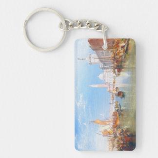 Venice, Dogano and Santa Maria della Salute art Keychain