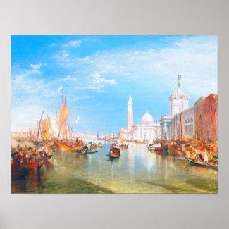 Venice, Dogano and Santa Maria della Salute art Print