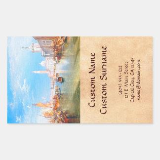 Venice, Dogano and Santa Maria della Salute art Rectangular Sticker