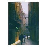 Venice Early Morning View of Alleyway Greeting Card