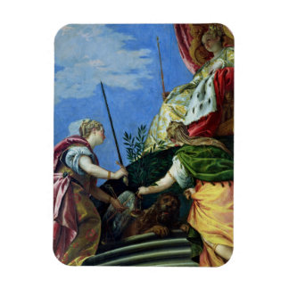Venice enthroned between Justice and Peace Rectangular Magnets