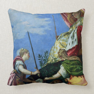 Venice enthroned between Justice and Peace Throw Pillow