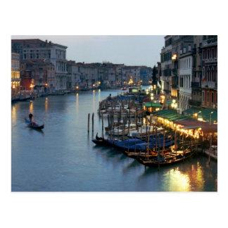 Venice Evening - Grand Canal Postcard