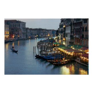 Venice Evening Grand Canal Poster