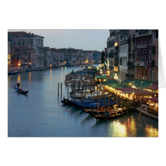 Venice Evening Over the Grand Canal Card
