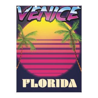 Venice Florida retro vacation poster Canvas Print