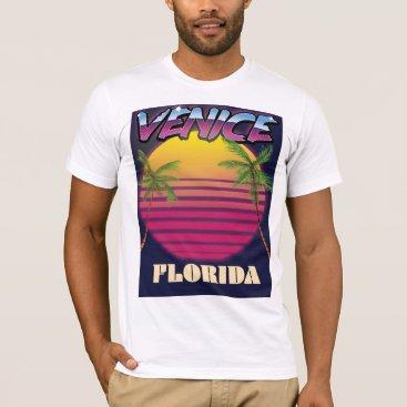 bartonleclaydesign Venice Florida retro vacation poster T-Shirt
