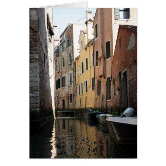 Venice From The Gondola Card