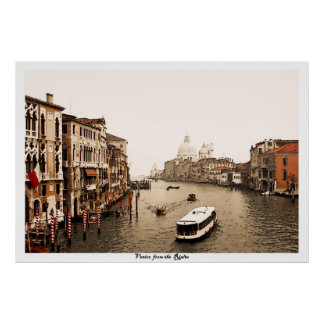 Venice from the Rialto, poster