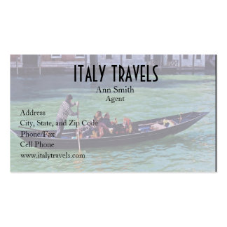 Venice Gandola & Canal with Love Quote Business Card