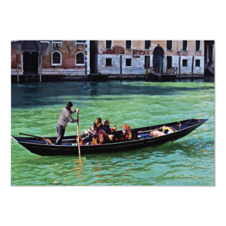 Venice Gandola & Canal with Love Quote Card