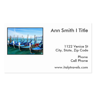 Venice Gandola with Love Quote Business Card