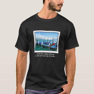 Venice Gandola with Love Quote T-Shirt