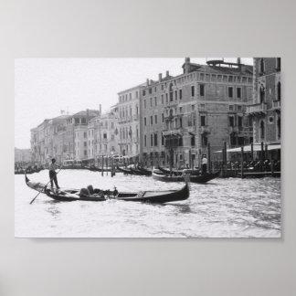 Venice Gondola Gondolier Italy Art Photograph Poster