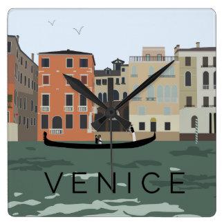 Venice Gondola Illustrated Wall Clock