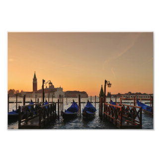 Venice Gondola Landscape Photo Print