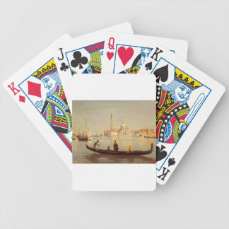 Venice Gondola on Grand Canal by Camille Corot Bicycle Playing Cards