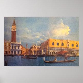 Venice Gondola Scene Poster
