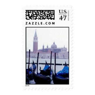 Venice Gondolas Italy Travel Postage Stamps