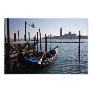 Venice gondolas photo print