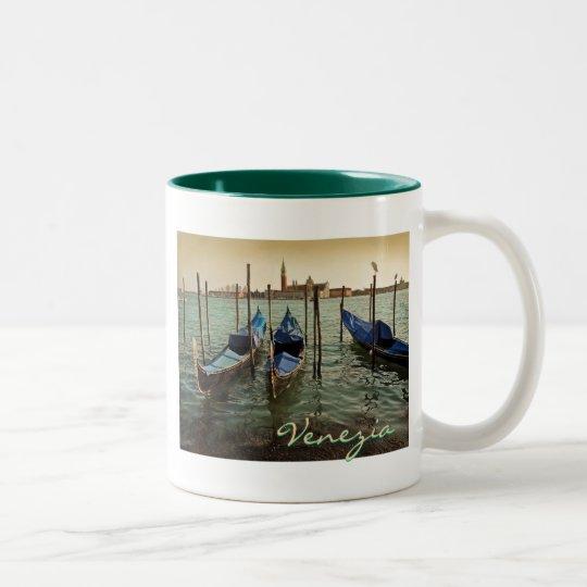 Venice gondolas Two-Tone coffee mug