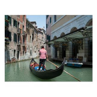 Venice Gondolier Postcard