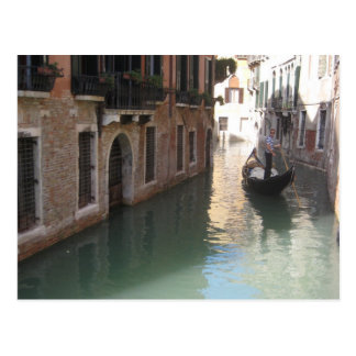 Venice gondolier - postcard