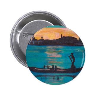 Venice gondoliers 2 inch round button