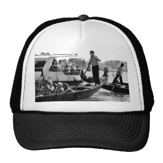VENICE GONDOLIERS IN BLACK AND WHITE TRUCKER HAT