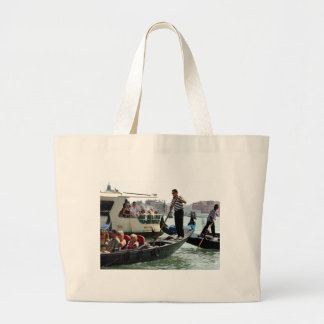 VENICE GONDOLIERS ON THE GRAND CANAL CANVAS BAGS