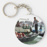 VENICE GONDOLIERS ON THE GRAND CANAL KEYCHAINS