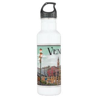 Venice - Grand Canal and Rialto Bridge 24oz Water Bottle